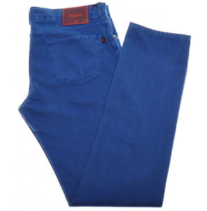 Isaia Napoli Selvedge Denim Jeans Cotton 44 Blue 06JN0165