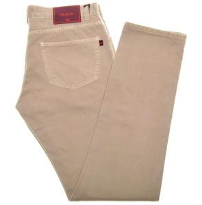Isaia Napoli Selvedge Denim Jeans Cotton 36 Khaki Brown