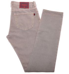 Isaia Napoli Selvegde Denim Jeans Cotton 33 Gray W/ Pink Tone