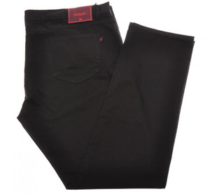 Isaia Napoli Denim Jeans Cotton Stretch 46-US Black 06JN0194