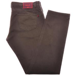 Isaia Napoli Selvedge Denim Jeans Cotton 38 Brown