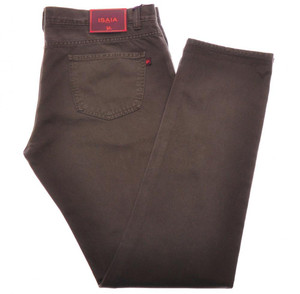 Isaia Napoli Selvedge Denim Jeans Cotton 38 Brown 06JN0191