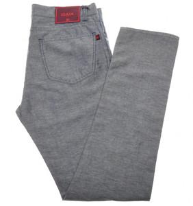 Isaia Napoli Denim Like Jeans Cotton Linen 34 Blue