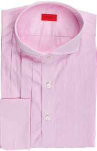 Isaia Napoli French Cuff Formal Dress Shirt Cotton 43 17 Pink 06SH0213