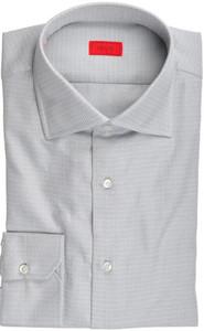 Isaia Napoli Dress Shirt Cotton 41 16 Gray Tonal Solid