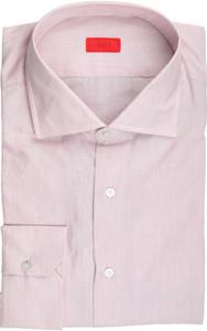 Isaia Napoli Dress Shirt Cotton 45 18 Purple Stripe 06SH0264
