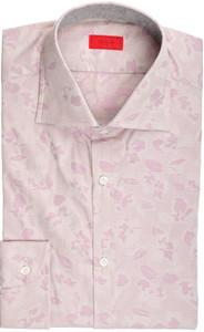 Isaia Napoli Dress Shirt Cotton 39 15 1/2 Purple Floral 06SH0274