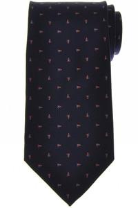E. Marinella Napoli Tie Silk 'Wide Model' Blue Orange Geometric 07TI0175