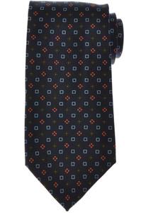 E. Marinella Napoli Tie Silk 'Wide Model' Blue Orange Geometric 07TI0172