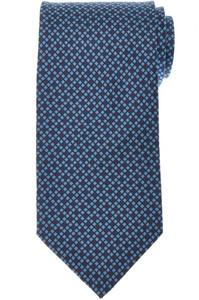 E. Marinella Napoli Tie Silk 'Wide Model' Blue Brown Geometric 07TI0171
