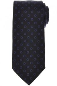 E. Marinella Napoli Tie Silk Dark Navy Blue Geometric 07TI0165