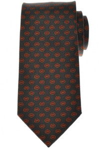 E. Marinella Napoli Tie Silk Gray Brown Geometric