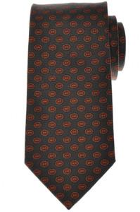 E. Marinella Napoli Tie Silk Gray Brown Geometric 07TI0147