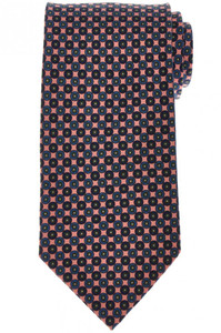 E. Marinella Napoli Tie Silk 'Wide Model' Pink Blue Geometric