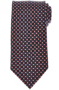 E. Marinella Napoli Tie Silk 'Wide Model' Pink Blue Geometric 07TI0161