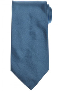 E. Marinella Napoli Tie Silk 'Wide Model' Blue Solid 07TI0160