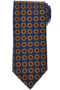 E. Marinella Napoli Tie Silk Blue Yellow Geometric 07TI0154