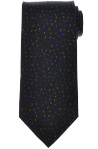 E. Marinella Napoli Tie Silk 'Wide Model' Blue Brown Geometric 07TI0152