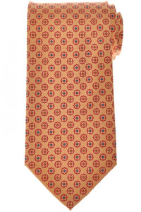 E. Marinella Napoli Tie Silk 'Wide Model' Yellow Red Geometric 07TI0192