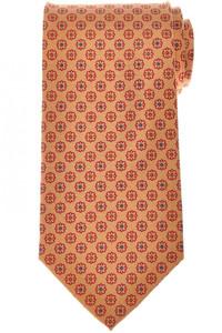 E. Marinella Napoli Tie Silk 'Wide Model' Yellow Red Geometric 07TI0192