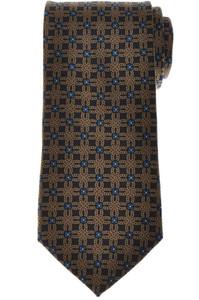 E. Marinella Napoli Tie Silk 'Wide Model' Blue Yellow Geometric 07TI0190