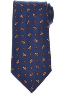 E. Marinella Napoli Tie Silk 'Wide Model' Blue Orange Paisley 07TI0186
