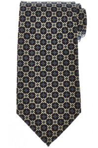 E. Marinella Napoli Tie Silk 'Wide Model' Blue Off White Geometric 07TI0185