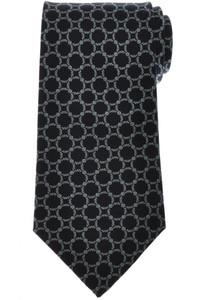 E. Marinella Napoli Tie Silk 'Wide Model' Navy Blue Geometric 07TI0182