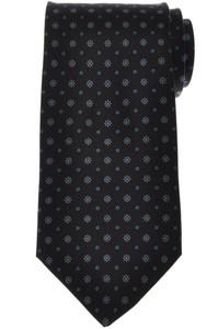 E. Marinella Napoli Tie Silk 'Wide Model' Black Blue Geometric 07TI0210