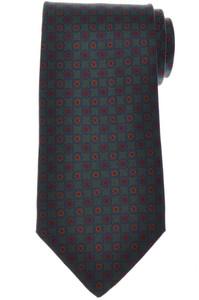 E. Marinella Napoli Tie Silk 'Wide Model' Green Blue Geometric 07TI0209