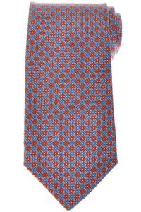 E. Marinella Napoli Tie Silk 'Wide Model' Brown Blue Geometric 07TI0208