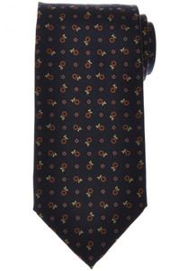 E. Marinella Napoli Tie Silk 'Wide Model' Blue Brown Floral
