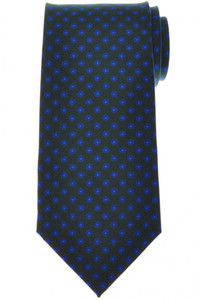 E. Marinella Napoli Tie Silk Green Blue Geometric 07TI0202