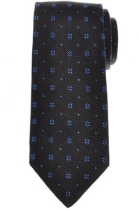 E. Marinella Napoli Tie Silk Gray Blue Geometric 07TI0200