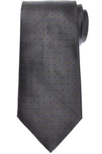 E. Marinella Napoli Tie Silk Gray Purple Polka Dot 07TI0197