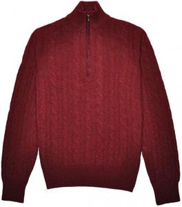 Loro Piana 1/2 Zip Sweater Baby Cashmere 48 Small Burgundy