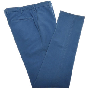 Incotex Dress Pants Washed Cotton Stretch 38 54 Blue 08PT0210