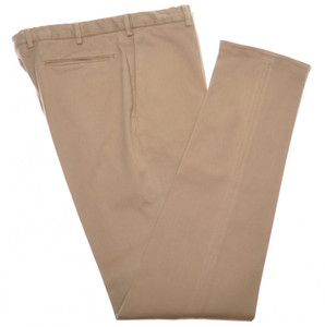 Incotex Dress Pants Washed Cotton Stretch Twill 38 54 Brown 08PT0208