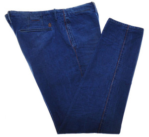 Incotex Dress Pants Cotton Denim 40 56 Blue 08PT0212