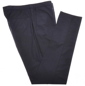 Incotex Dress Pants Cotton Poplin Stretch 38 54 Blue 08PT0211