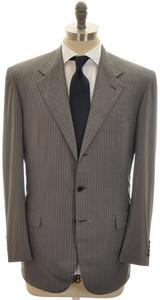 Brioni Suit 'Palatino' 3B 180's Wool 44 54 Gray Pink Stripe 03SU0190