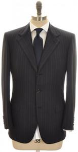 Brioni Suit 'Palatino' 3B Wool 150's 38 48 Blue Stripe 03SU0209