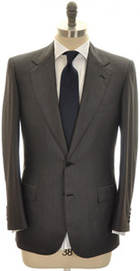 Brioni Suit 'Palatino' 2B Wool Silk 38 48 Gray Tonal Stripe
