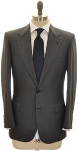 Brioni Suit 'Palatino' 2B Wool Silk 38 48 Gray Tonal Stripe 03SU0208
