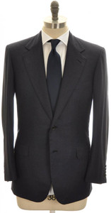 Brioni Suit 'Palatino' 2B Wool 180's 40 50 Blue Micro Stripe 03SU0207