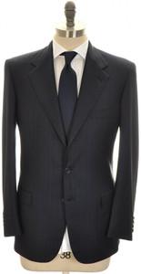 Brioni Suit 'Palatino' 3B Wool 150's 40 50 Blue Stripe 03SU0206