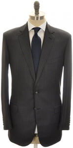 Brioni Suit 'Colosseo' 2B Wool 42L 52L Gray Stripe