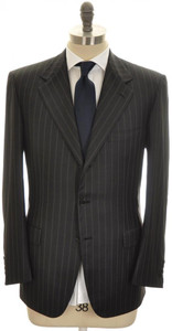 Brioni Suit 'Palatino' 3B Wool 150's 42 52 Black Stripe