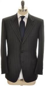 Brioni Suit 'Palatino' 3B Wool 150's 42 52 Black Stripe