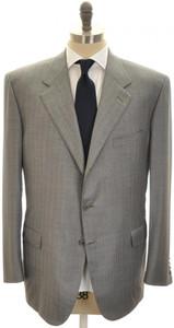 Brioni Suit 'Palatino' 3B Wool 150's 48 58 Gray Stripe 03SU0202